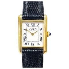 Cartier Ladies Vermeil Must de Cartier Mechanical Tank Wristwatch