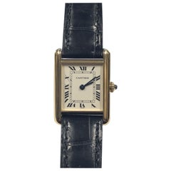 Cartier Ladies Yellow Gold Classic Tank Quartz Wrist Watch