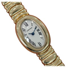 Cartier Ladies Yellow Gold Mini Baignoire Quartz Wristwatch