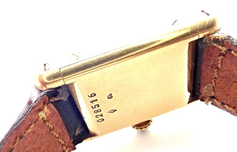 Cartier Ladies Yellow Gold Mini Tank Wristwatch For Sale 3