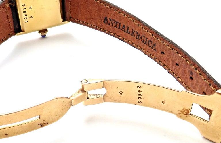 Cartier Ladies Yellow Gold Mini Tank Wristwatch For Sale 4