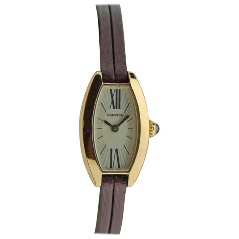 Cartier Ladies Yellow Gold Quartz Watch
