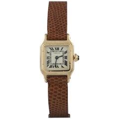 Cartier Ladies Yellow Gold Santos Manual Wind Wristwatch, circa 1940s