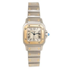 Cartier Ladies Yellow Gold Stainless Steel Santos Automatic Wristwatch