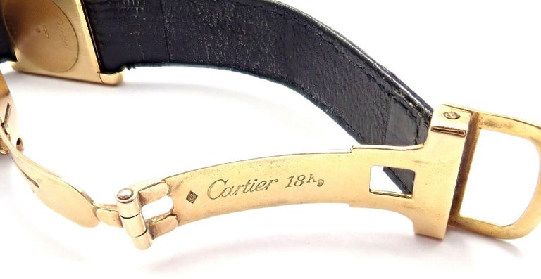 Cartier Ladies Yellow Gold Tank Wristwatch For Sale 3