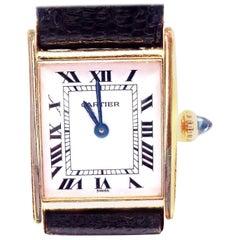 Cartier Ladies Yellow Gold Tank Wristwatch