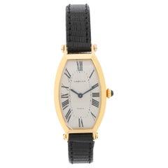 Cartier Ladies Yellow Gold Tonneau Manual Wristwatch