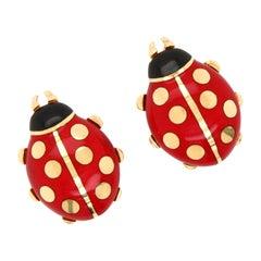 Cartier Ladybug Earclips, 1990s