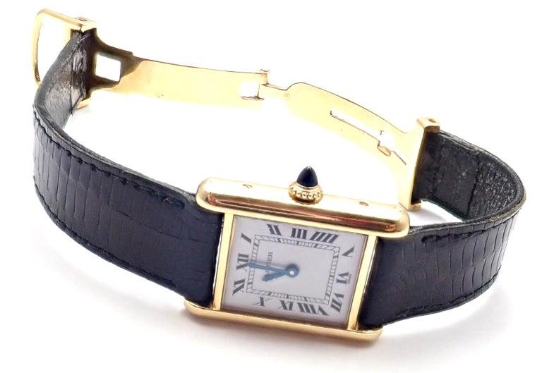 Cartier Ladies Yellow Gold Tank Wristwatch 2
