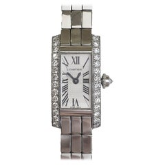Cartier Lanieres Allongee 18 Karat Gold Diamond Case Quartz Watch W15364W3