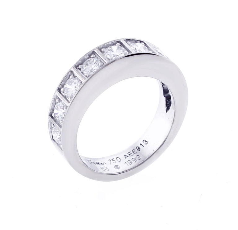 Round Cut Cartier Lanières Diamond Band Ring For Sale