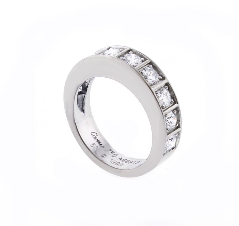 Cartier Lanières Diamond Band Ring In Good Condition For Sale In Bethesda, MD
