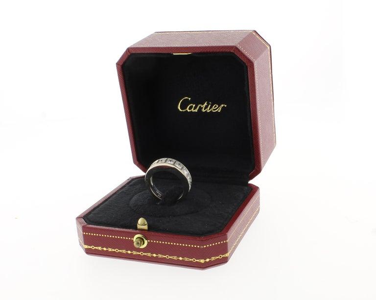 Women's or Men's Cartier Lanières Diamond Band Ring For Sale