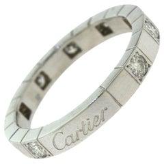 Cartier Lanières Diamond Half Eternity Wedding White Gold Ring