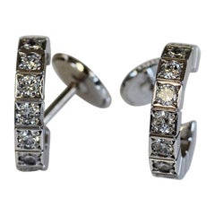 Cartier Lanieres Diamond Hoop Earrings