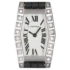 Cartier Lanieres Women's 18k White Gold Silver Dial Diamond Set WJ2005W3