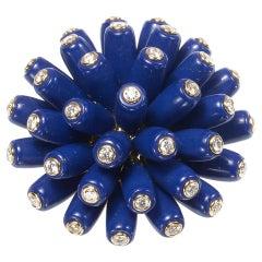"""Cartier Lapis Lazuli and Diamond """"Paris Nouvelle Vague"""" Bombé Ring"""