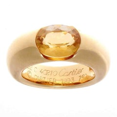 Cartier Large Ellipse Citrine Gold Ring