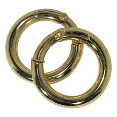 Cartier Large Gold Hoop Earrings for Non Pierced Ears