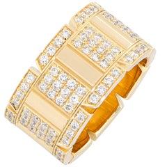Cartier Large Tank Francaise Diamond Band in 18 Karat Yellow Gold