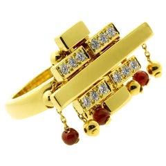 Cartier Le Baiser Du Dragon Diamond Gold Ring