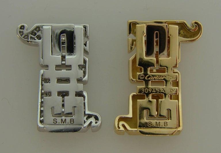 Cartier Le Baiser Du Dragon Diamond Ruby Gold Clip Pair 1