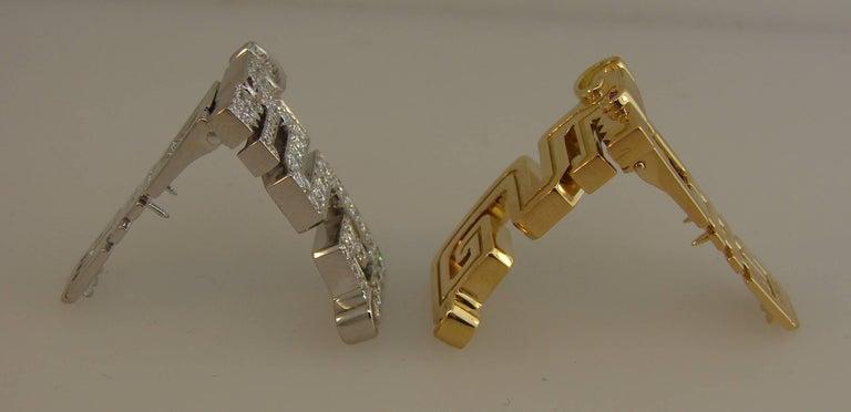 Cartier Le Baiser Du Dragon Diamond Ruby Gold Clip Pair 2