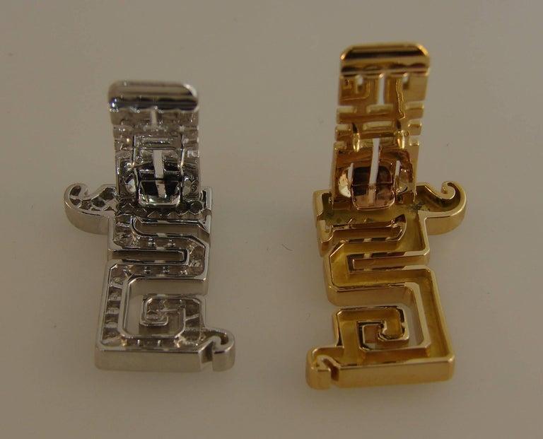 Cartier Le Baiser Du Dragon Diamond Ruby Gold Clip Pair 3