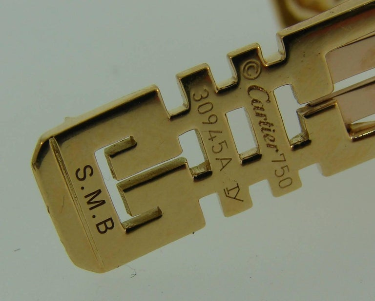 Cartier Le Baiser Du Dragon Diamond Ruby Gold Clip Pair 4