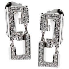 Cartier Le Baiser Du Dragon Diamond White Gold Earrings