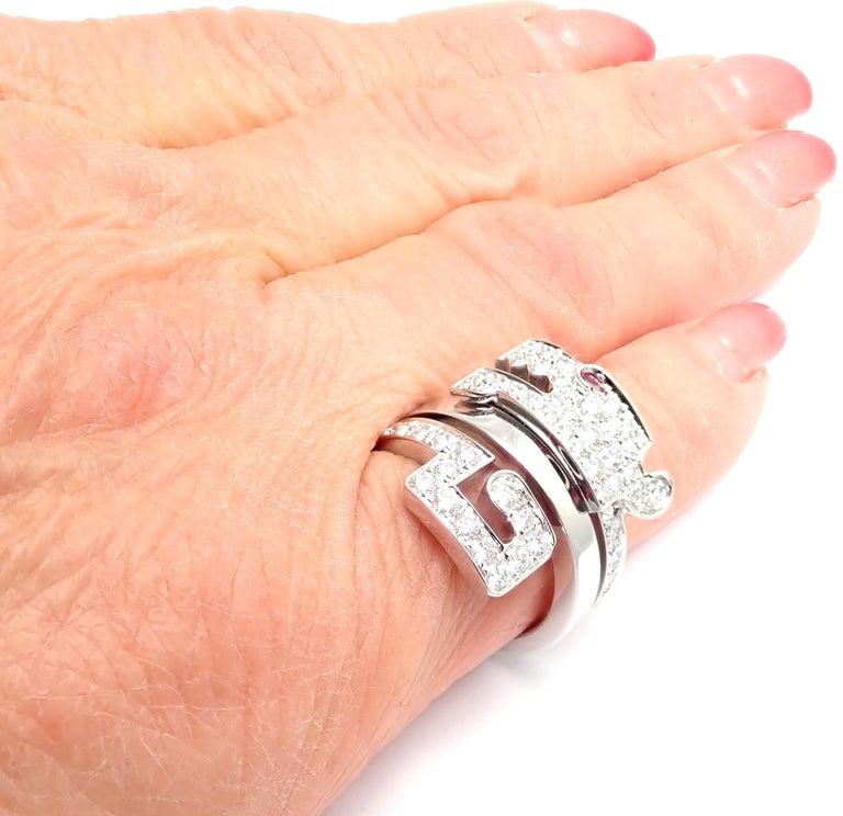 Cartier Le Baiser Du Dragon Ruby Diamond Gold Ring For Sale 6
