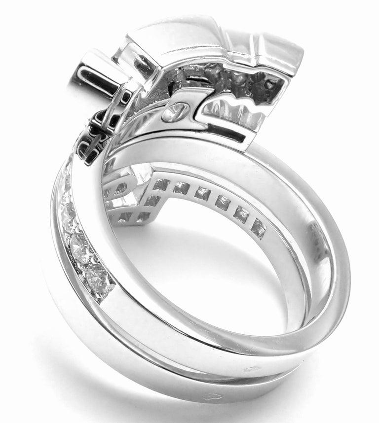 Women's or Men's Cartier Le Baiser Du Dragon Ruby Diamond Gold Ring For Sale