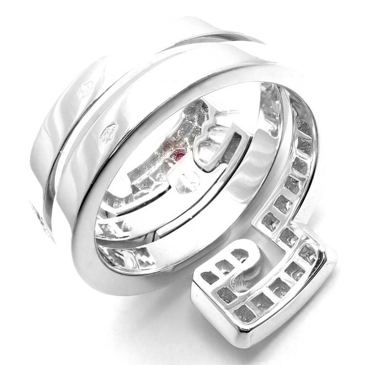 Cartier Le Baiser Du Dragon Ruby Diamond Gold Ring For Sale 3