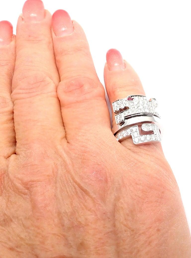 Cartier Le Baiser Du Dragon Ruby Diamond Gold Ring For Sale 5