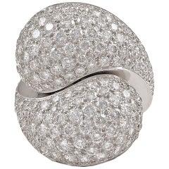 Cartier Le Ying et Le Yang Diamond Pave Ring