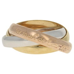 Cartier Les Must De Cartier Trinity Band Yellow Gold 18 Karat Rolling Ring