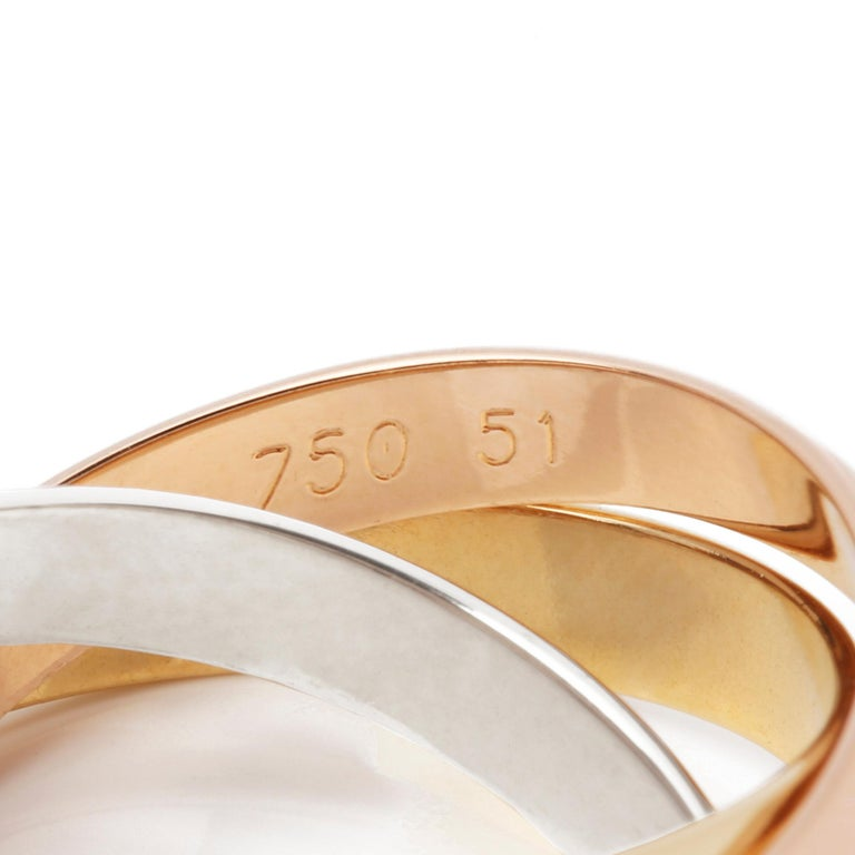 Cartier Les Must De Cartier Trinity Ring In Good Condition For Sale In Bishop's Stortford, Hertfordshire