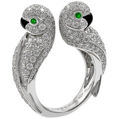 Cartier Les Oiseaux Liberes Diamond Love Birds  Ring