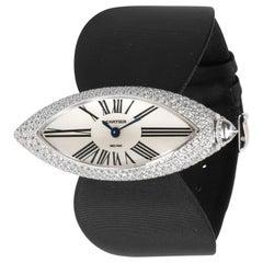 Cartier Libre Calisson WJ303050 Women's Watch in 18 Karat White Gold