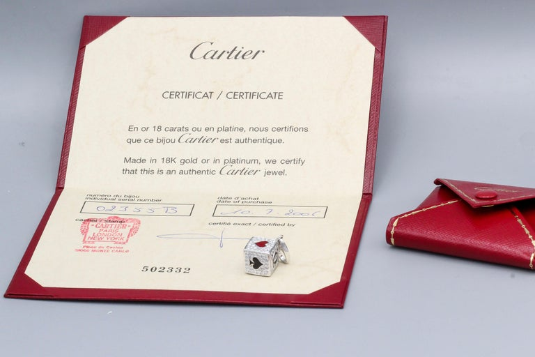 Cartier Limited Edition Diamond and Enamel Playing Card Suite Charm 2