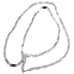 Cartier Link White Gold Chain Necklace, 1998