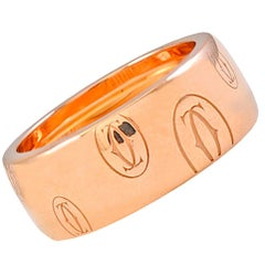 Cartier Logo De Cartier Rose Gold Ring