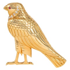 """Cartier, London 1970s Egyptian Revival Brooch in the Form of """"Horus"""""""