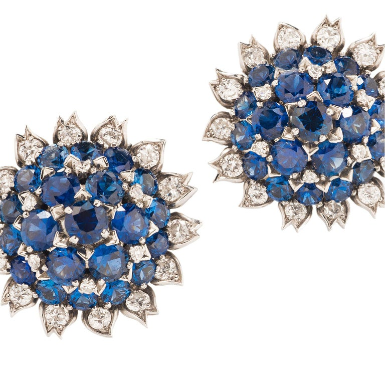 Cartier London Sapphire and Diamond Suite In Good Condition For Sale In Boston, MA
