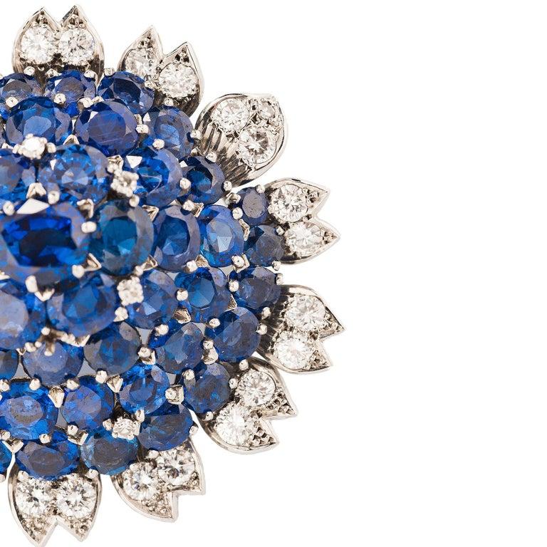 Women's Cartier London Sapphire and Diamond Suite For Sale