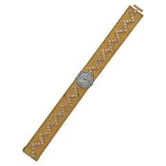 Cartier Longines Diamond Gold Watch Bracelet