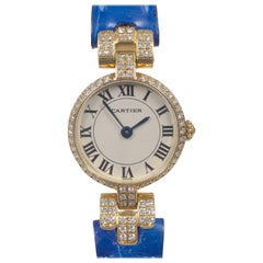 Cartier Louis Cartier Vendome Gold and Diamonds Ladies Quartz Wristwatch