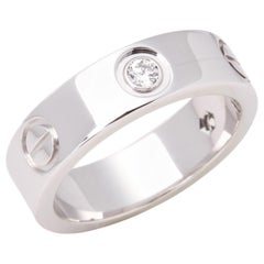 Cartier Love 18 Carat White Gold 3 Diamond
