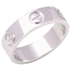 Cartier Love 18 Carat White Gold Band Ring