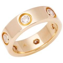 Cartier Love 18 Carat Yellow Gold Full Diamond Band Ring